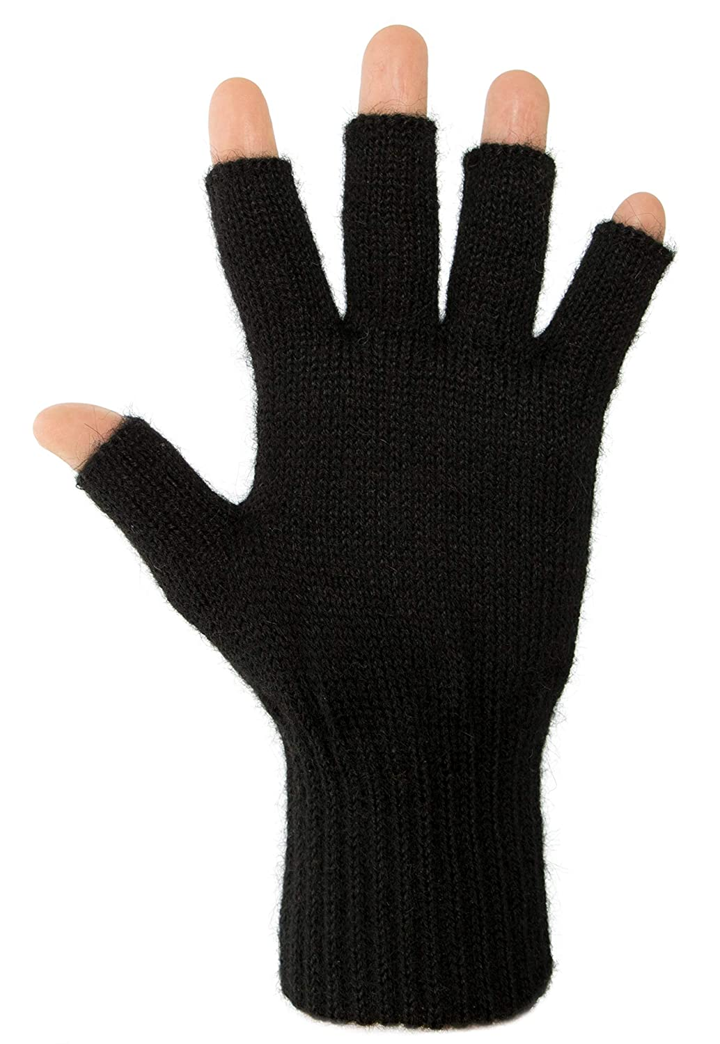DARN WARM Alpaca FINGERLESS Gloves - BEST NATURAL SOLUTION for COLD HANDS - for WOMEN AND MEN