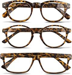 4f8f62de6d9 3 Pairs Unisex Reading Glasses-Comfy Stylish Spring Hinged Readers By  EyeSquared
