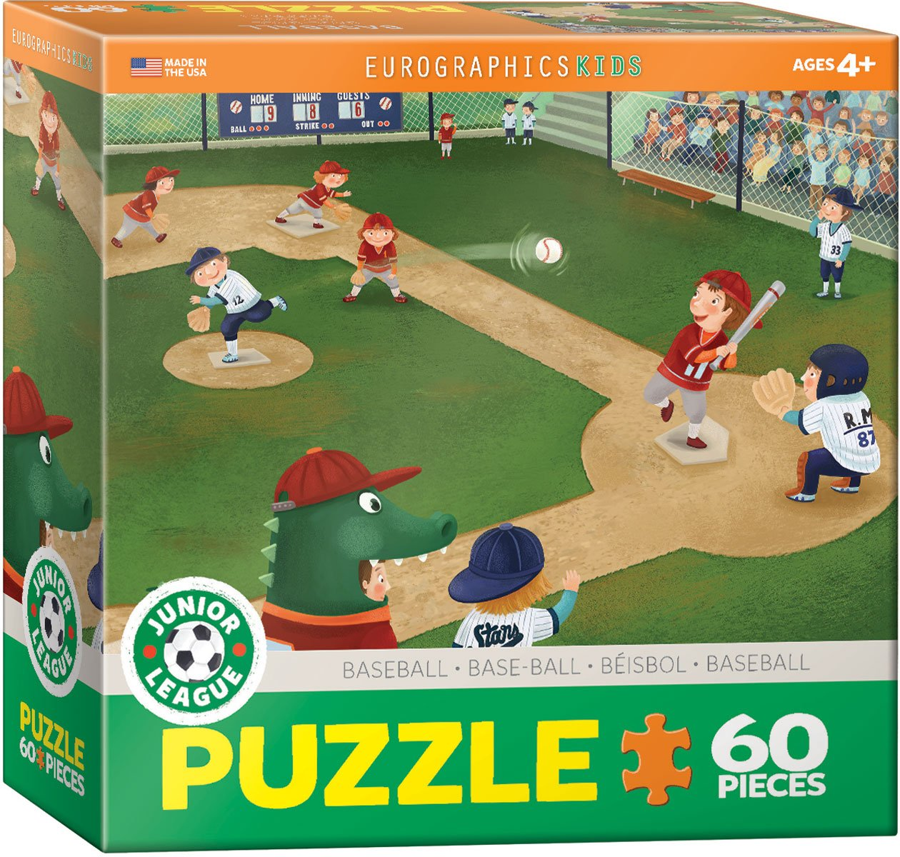 Eurographics Junior League Baseball 60-Piece Puzzle 6060-0484