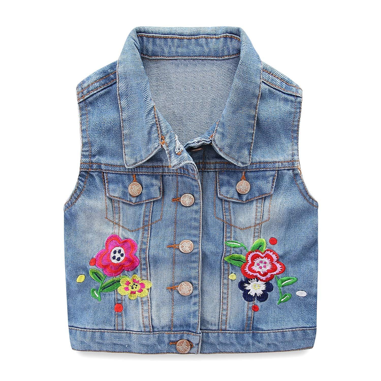 Mud Kingdom Girls Vest Jackets Denim Fashion