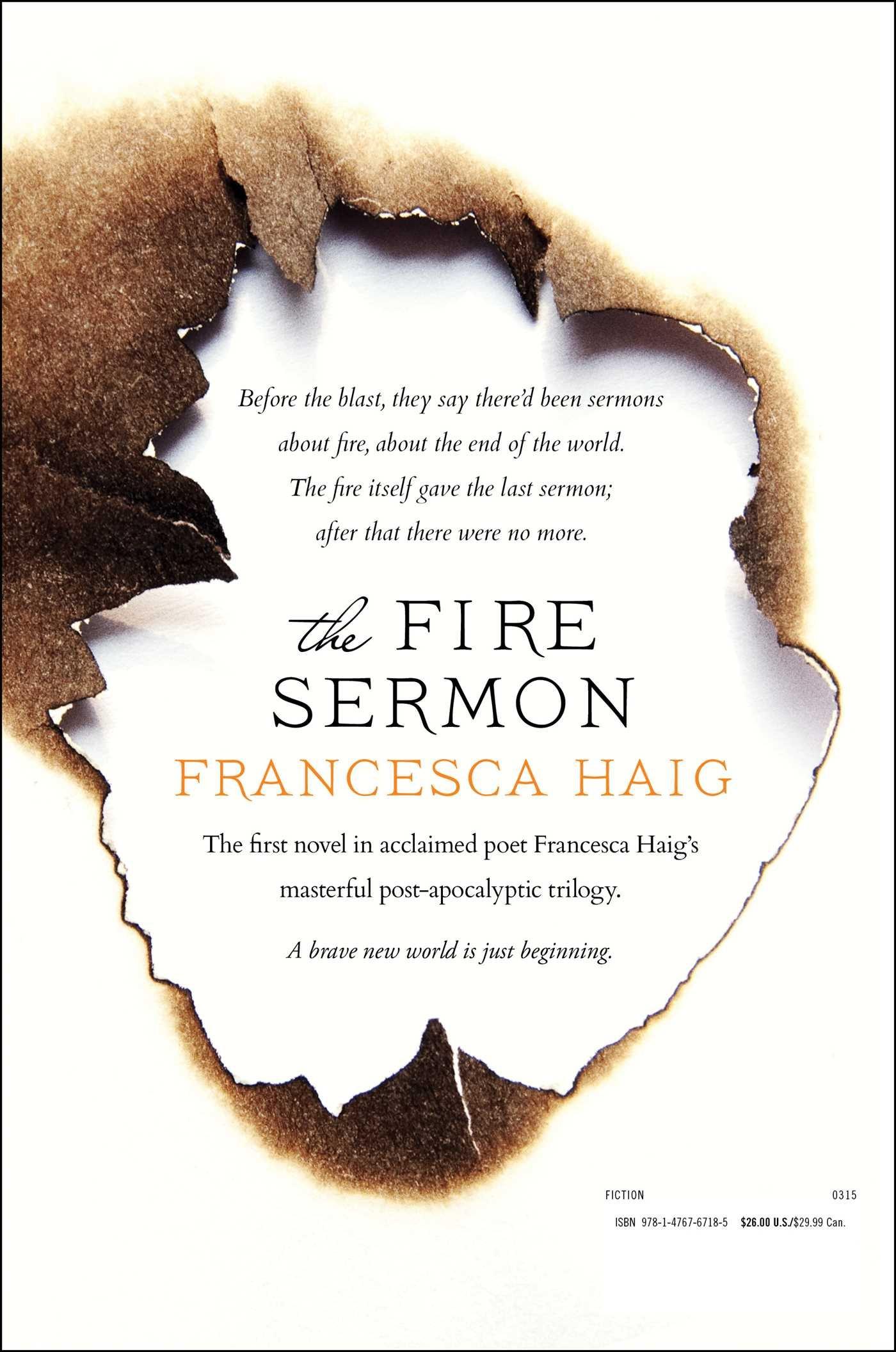 The Fire Sermon Amazon Co Uk Haig Francesca 9781476767185 Books