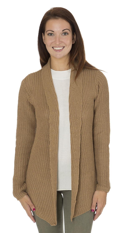 Classic Designs Womens Cotton Blend Shawl Collar Shrug Sweater (S-3X)