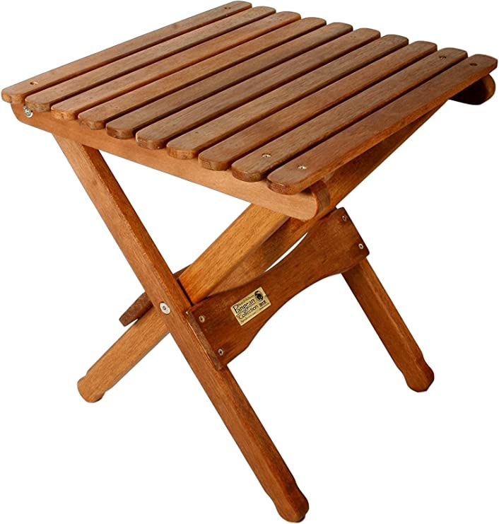Amazon.com : BYER OF MAINE, Pangean, Folding Wood Table, Hardwood, Folding Patio Table, Porch Table, Easy To Fold And Carry, Perfect For Camping, Wooden Camp Table, Matches Pangean Furniture Line, Single :