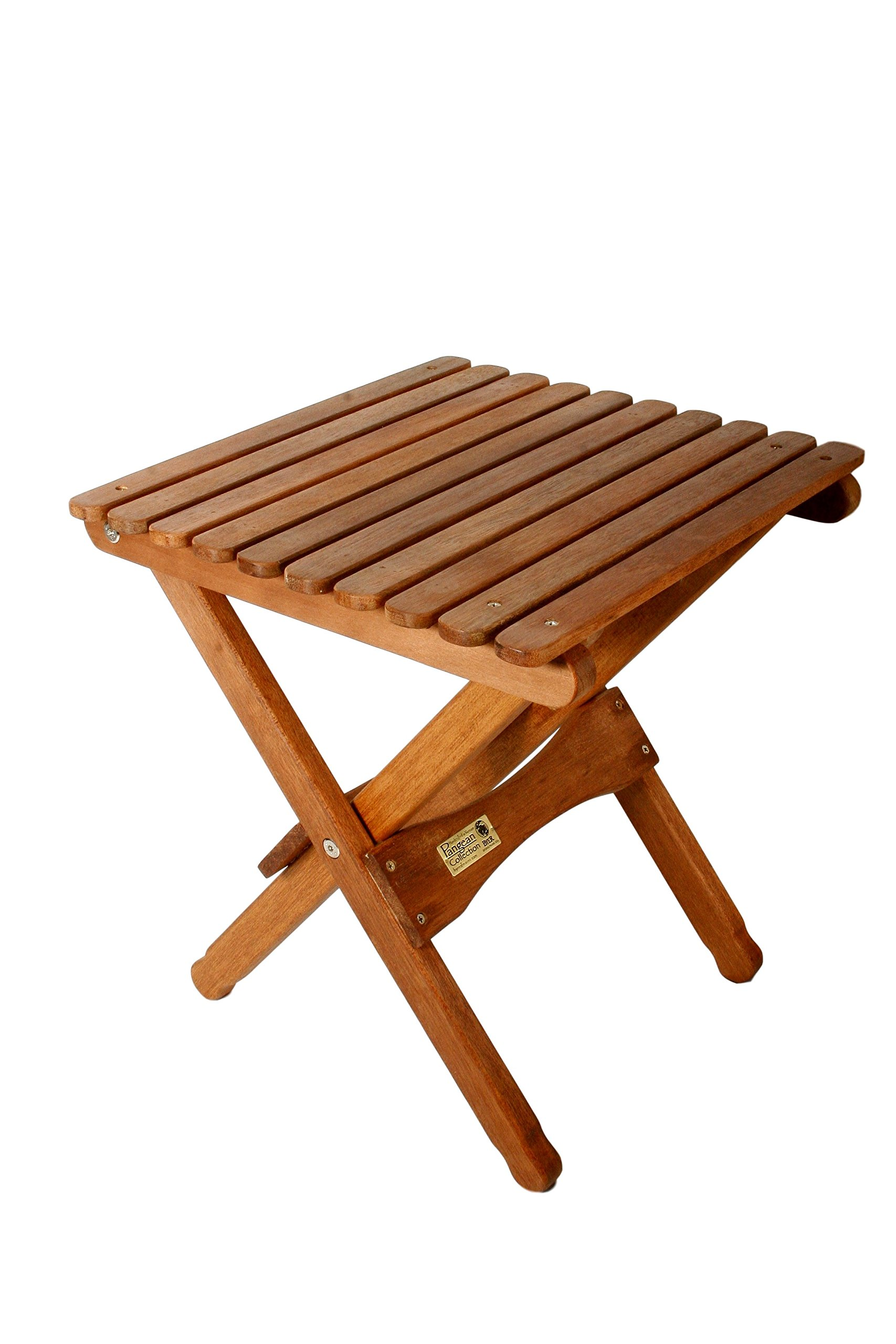 BYER OF MAINE, Pangean, Folding Wood Table, Hardwood, Folding Patio Table, Porch Table, Easy to Fold and Carry, Perfect for Camping, Wooden Camp Table, Matches Pangean Furniture Line, Single by BYER OF MAINE