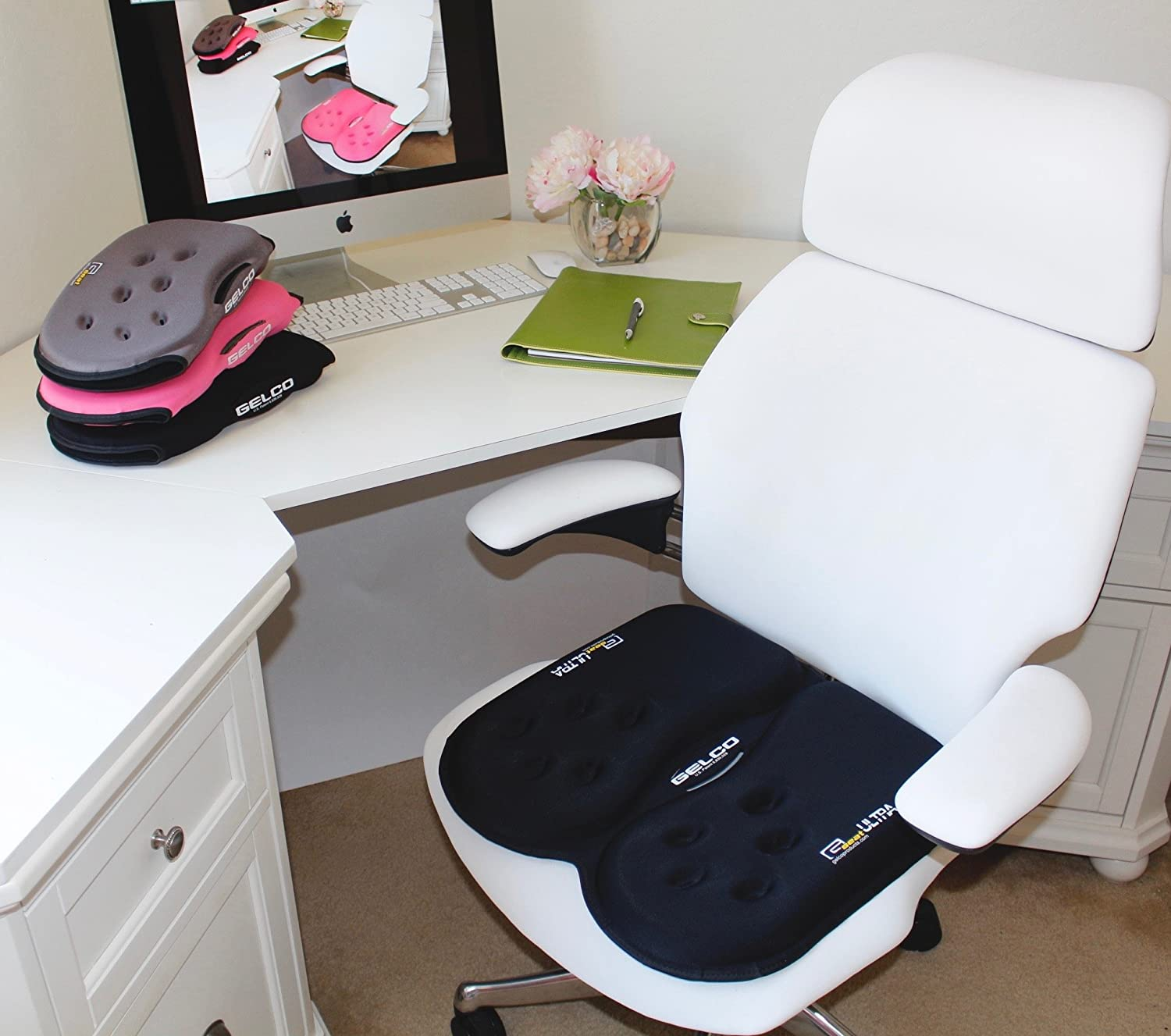 Amazon.com: New! GSeat Ultra Gel And Foam Seat Cushion For  Chair Car Office Commute Airplane Wheelchair Sciatica Coccyx Tailbone Chronic  Back Pain Relief ...