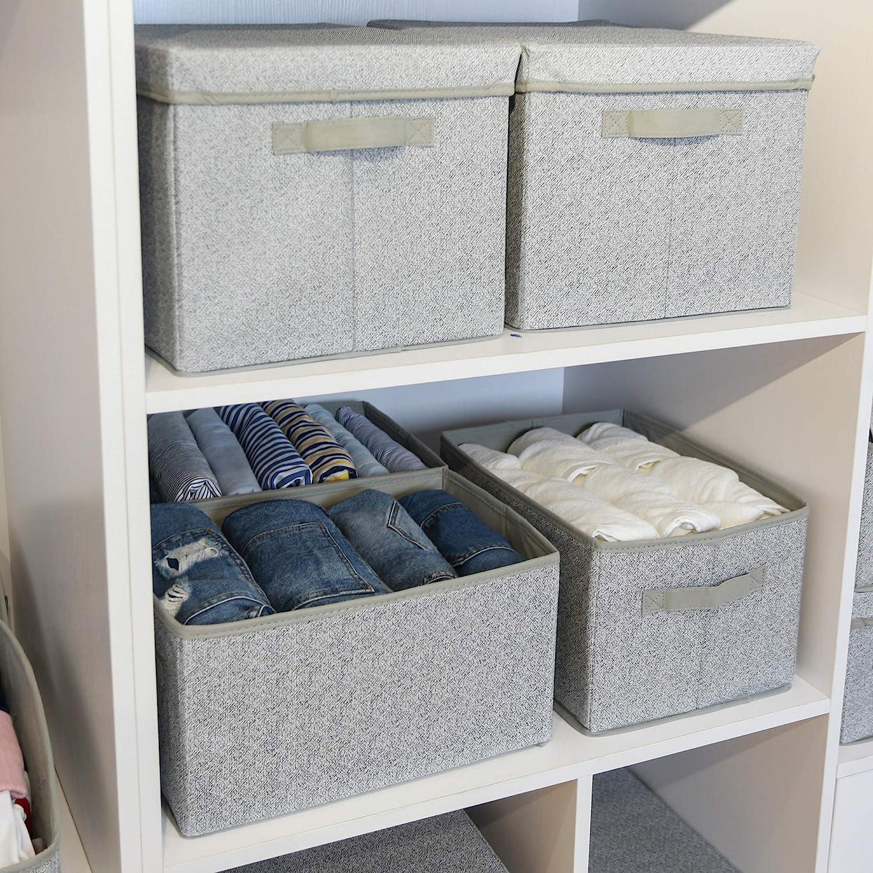 grey storage bins