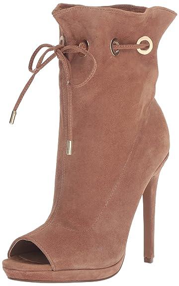 f4c563879965 Steve Madden Women s Cavalier Ankle Bootie Camel Suede 5.5 ...