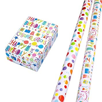 Wrapping Paper Gift 2 Rolls 75 X 150 Cm Glitter