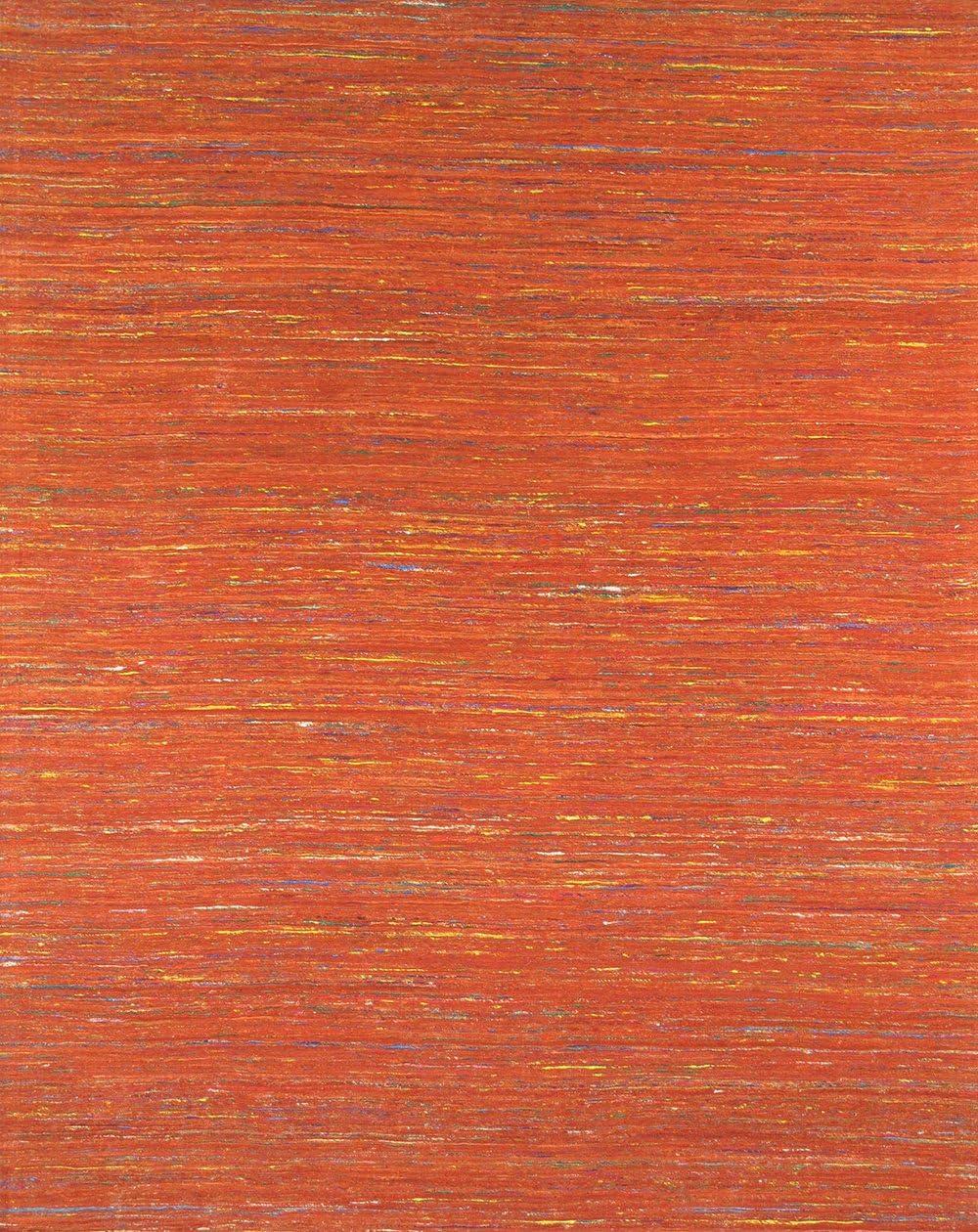 Pasargad Carpets Modern Collection Sari Silk Hand-Loomed Stripe Area Rug, 2 x 3