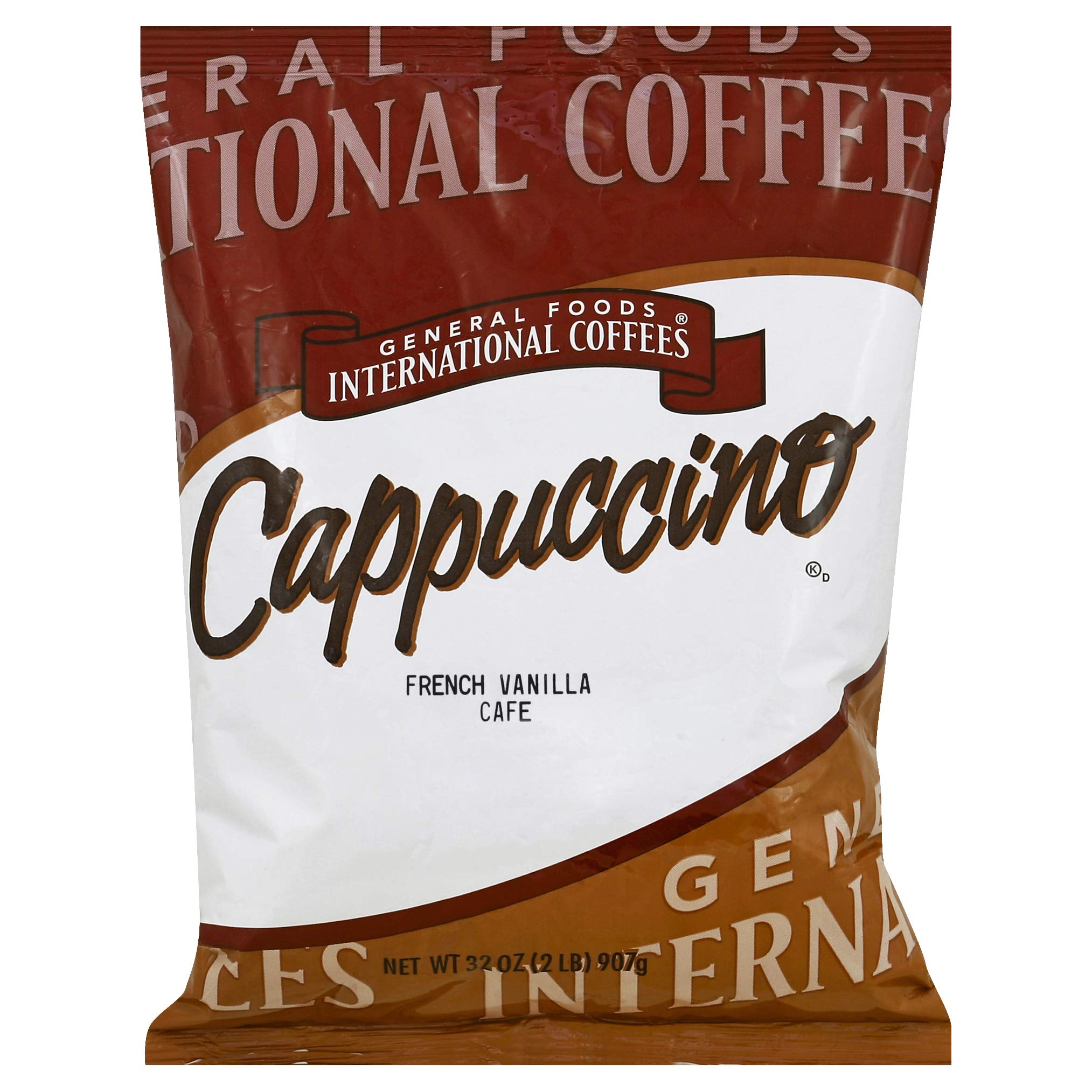 General Foods French Vanilla Cappuccino Bulk Coffee Mix (2 lbs Bags, Pack of 6) by General Foods International Coffee