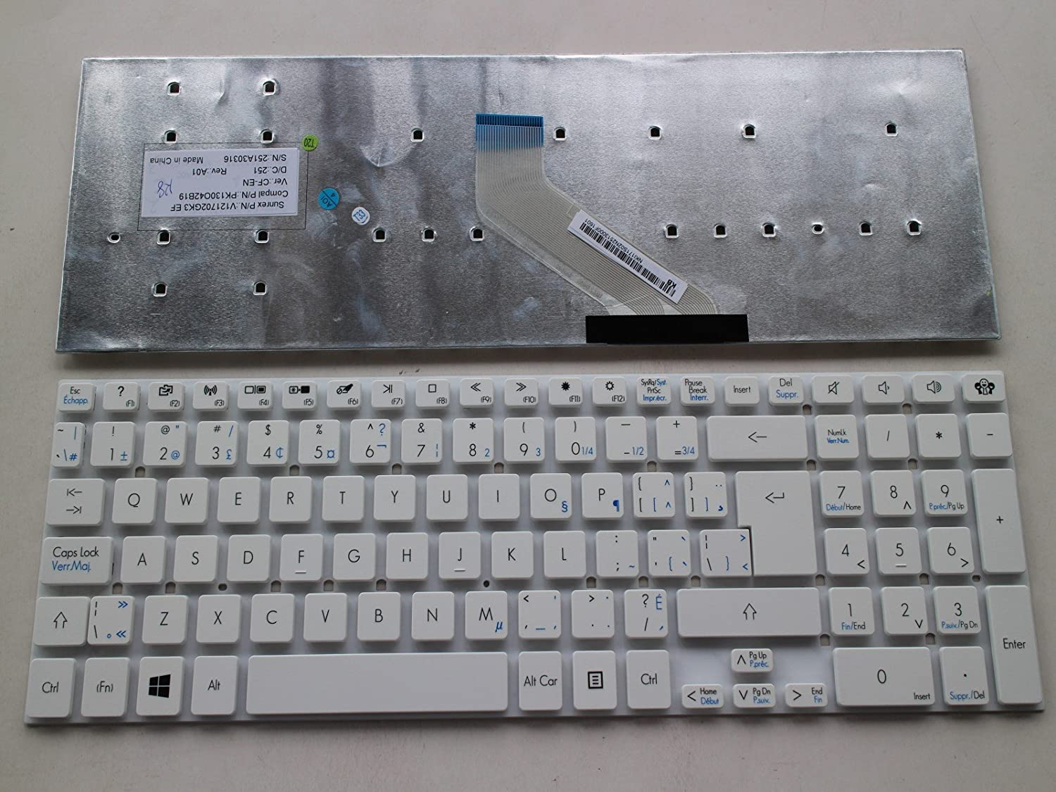 CA Laptop Canadian Clavier Keyboard for Gateway NV52L NV55S NV56R NV57H NV75S NV77H NV76R43u Laptop-Shop