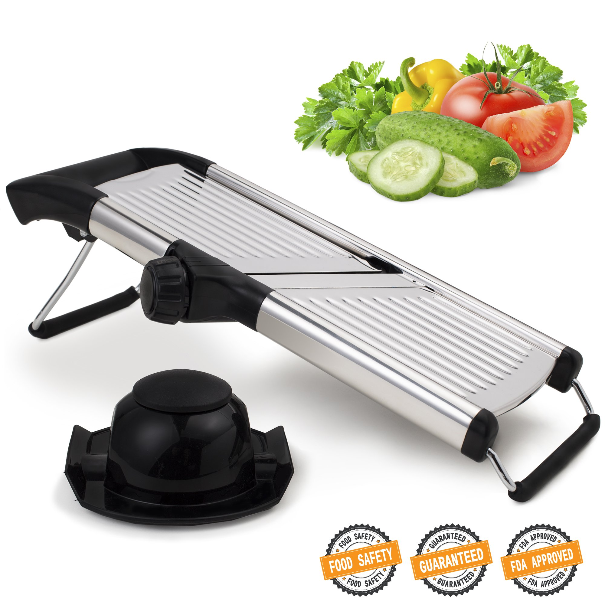 Mandoline Slicer for Home and Professional Use - Vegetable Slicer with Razor Sharp Blades that Do Not Require Maintenance by ELYX