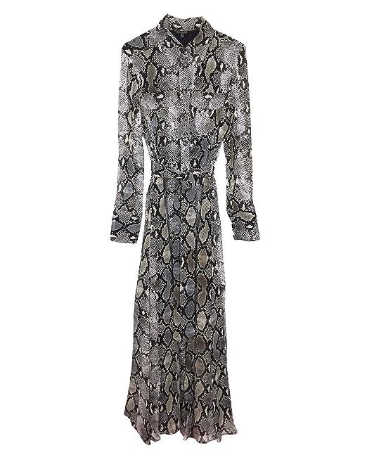 8944524249b0 MASSIMO DUTTI Women s Snakeskin Print Dress with tie Belt 6649 816 (34 EU)