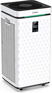 COLZER Air Purifier with True HEPA Air Filter, Wi-Fi Intelligent Control, Air Cleaner for Large Room, for Spaces Up to 1500 Sq Ft, Perfect for Home/Office, with Composite Filter