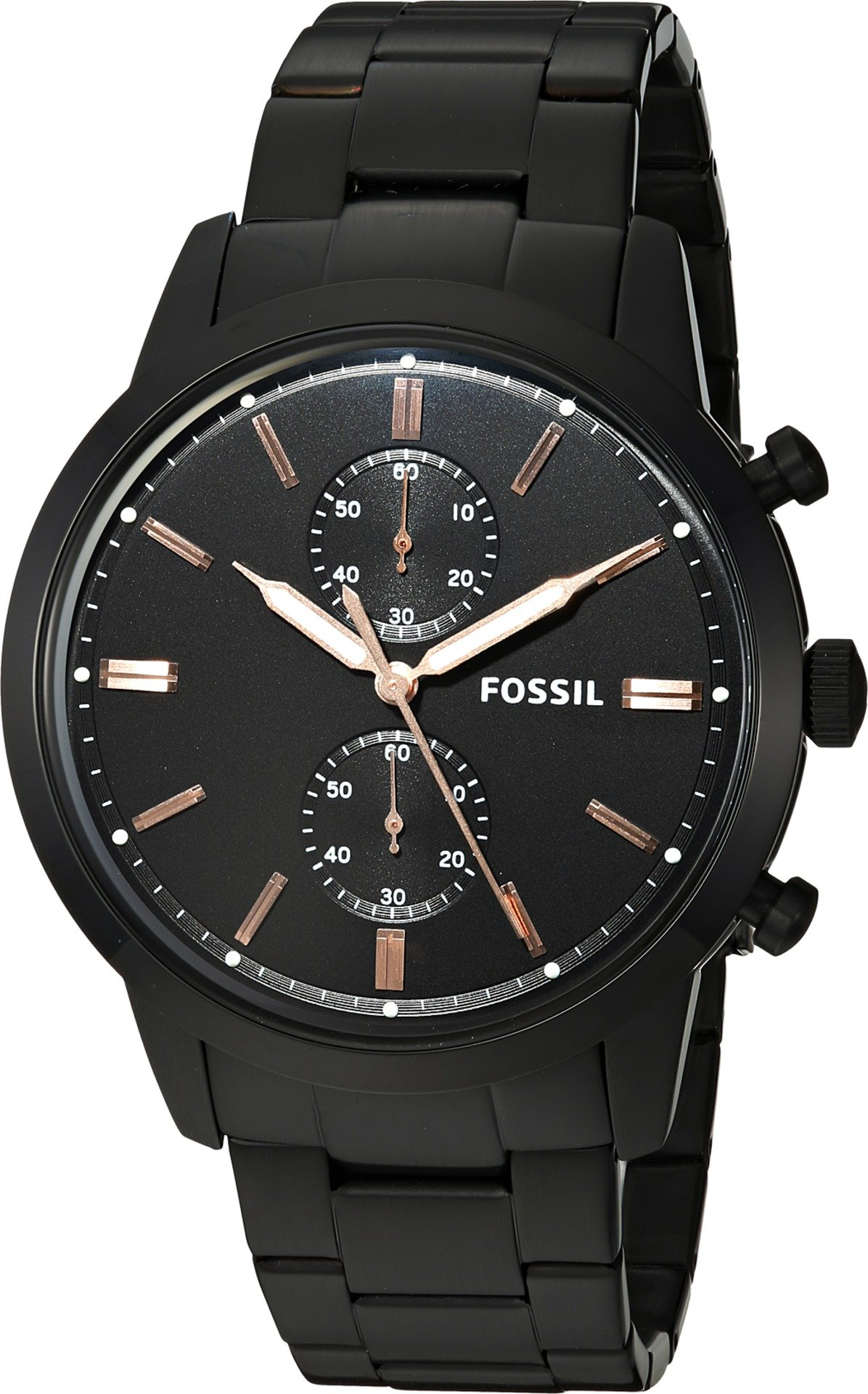 Fossil Men's '44mm Townsman' Quartz Stainless Steel Casual Watch, Color:Black (Model: FS5379)