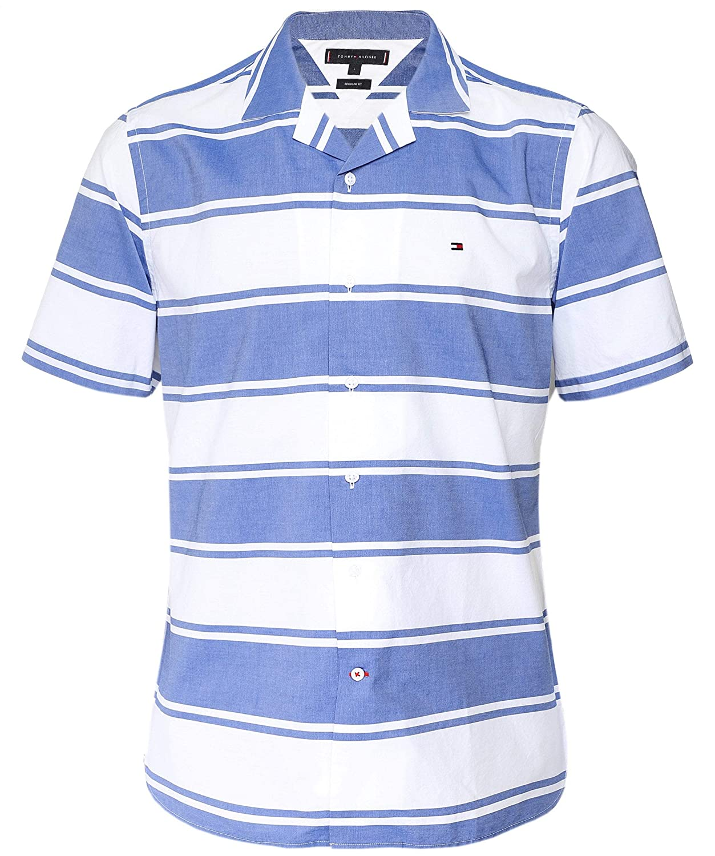 Tommy Hilfiger Baja Stripe Shirt S/s Sudadera, Azul (Blue Quartz ...