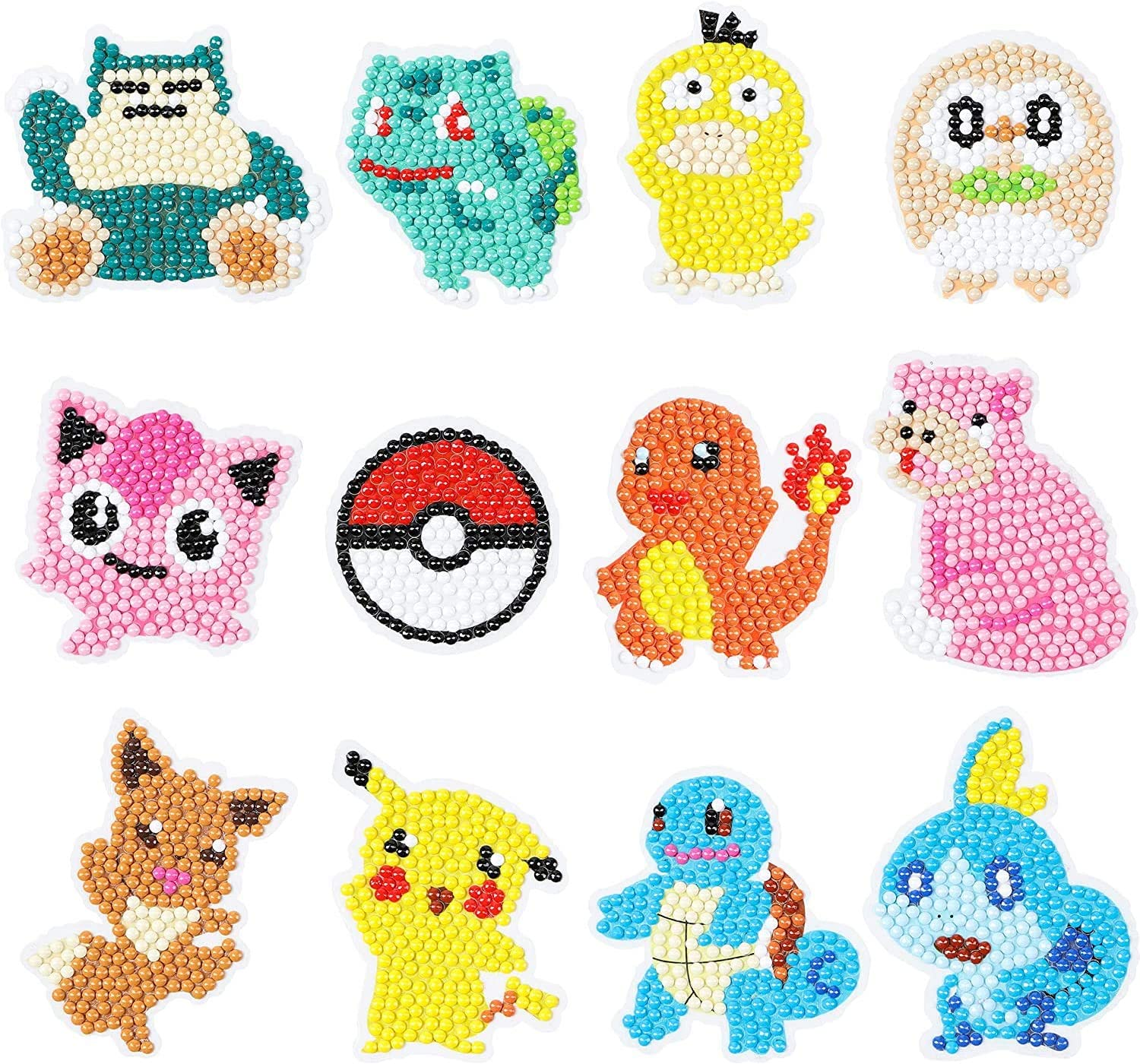 S SNUOY 5D Diamond Painting Stickers Kits for Kids Animal Style Paint with Diamond Kits for Kids and Adult Beginners 37pcs Free Stickers