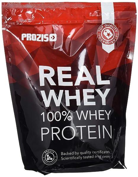 Prozis 100% Pure Real Whey Protein Powder - Suplemento de Vainilla Enriquecido con BCAAs para