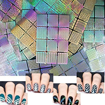 Amazon.com: Nail Stickers,24 Sheets 96 Designs 288 Pcs Hollow Nail ...