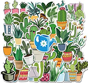 45Pcs Fresh Plants Stickers for Notebook Laptop and Water Bottles,Waterproof Durable Trendy Vinyl Laptop Decal Stickers Pack for Teens, Water Bottles, Computer, Travel Case