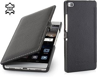 StilGut Book Type, Housse en Cuir avec Clip pour Huawei P8