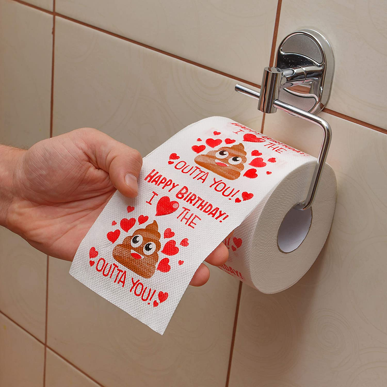 The Perfect Decoration for Your Party Excellent Gift for Wife Husband Boyfriend Girlfriend Friend Sister Brother Dad Mom Husband Birthday Gifts by Aliza Large Funny Gag Toilet Paper Roll