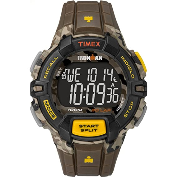 cec9bffbf Timex Men's Ironman 30 Lap | Interval Timer Rugged Camo | Sport Watch  TW5M02100: Amazon.ca: Watches