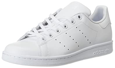adidas Originals Stan Smith J Children Trainers White S76330, Size:35 1/3