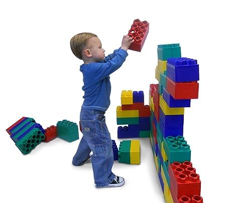 Amazon Com 96pc Jumbo Blocks Standard Set Made In The Usa Toys