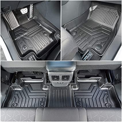 E-cowlboy Floor Mat Liner for Toyota RAV4 2014~2018 Heavy Duty Rubber Front /& Rear Car Carpet Custom Fit All Seasons Odorless Black