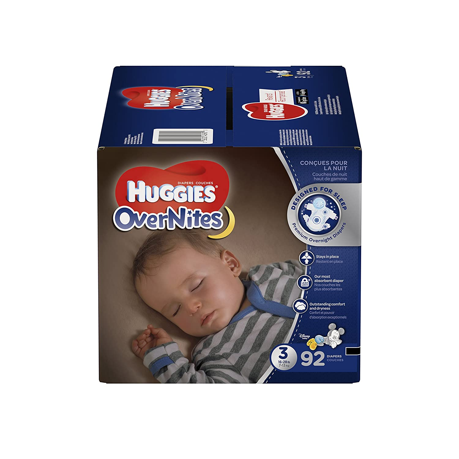 HUGGIES OverNites Diapers, Size 5, 66 ct., GIGA JR PACK Overnight Diapers (Packaging May Vary) 10036000406952
