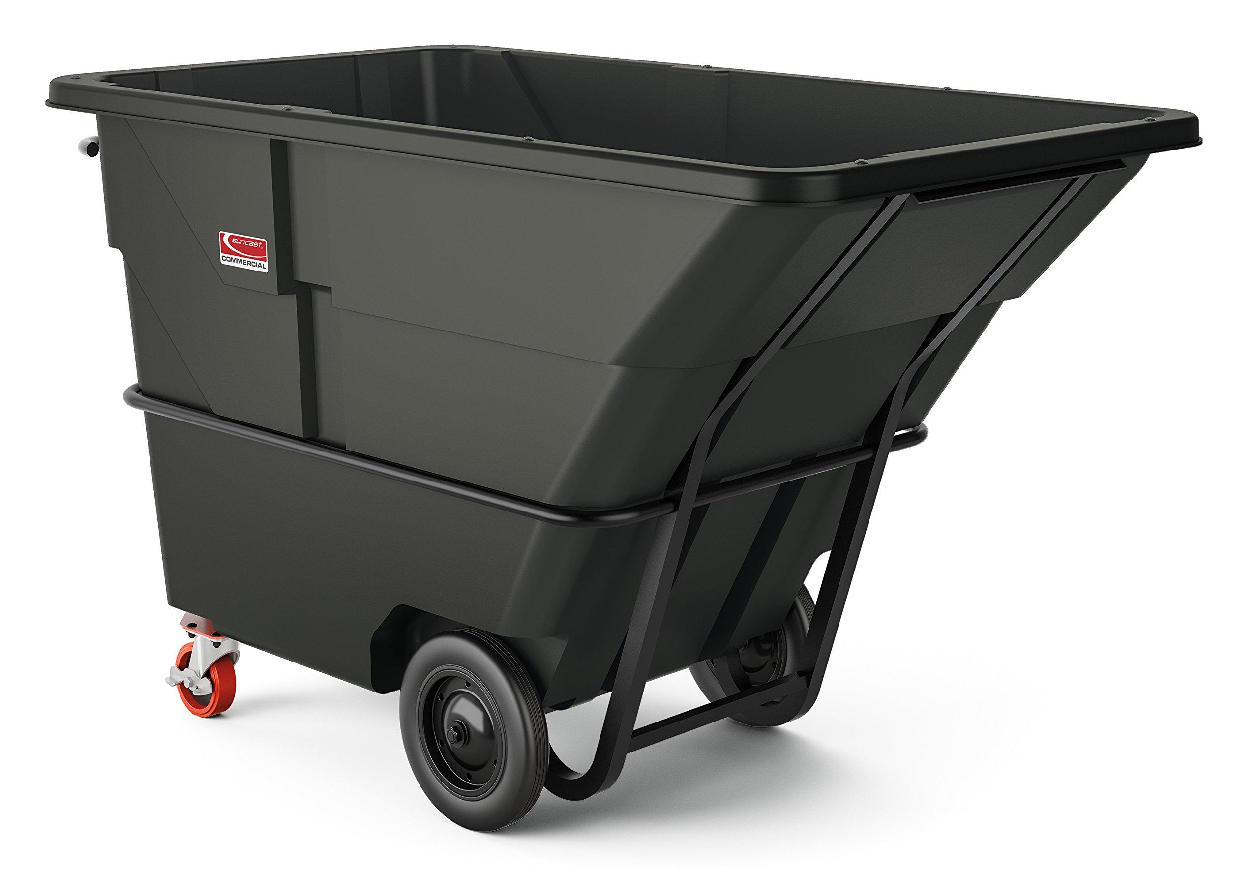 Suncast Commercial RMTTHD200 2 Cubic Yard Heavy Duty Tilt Truck, Gray