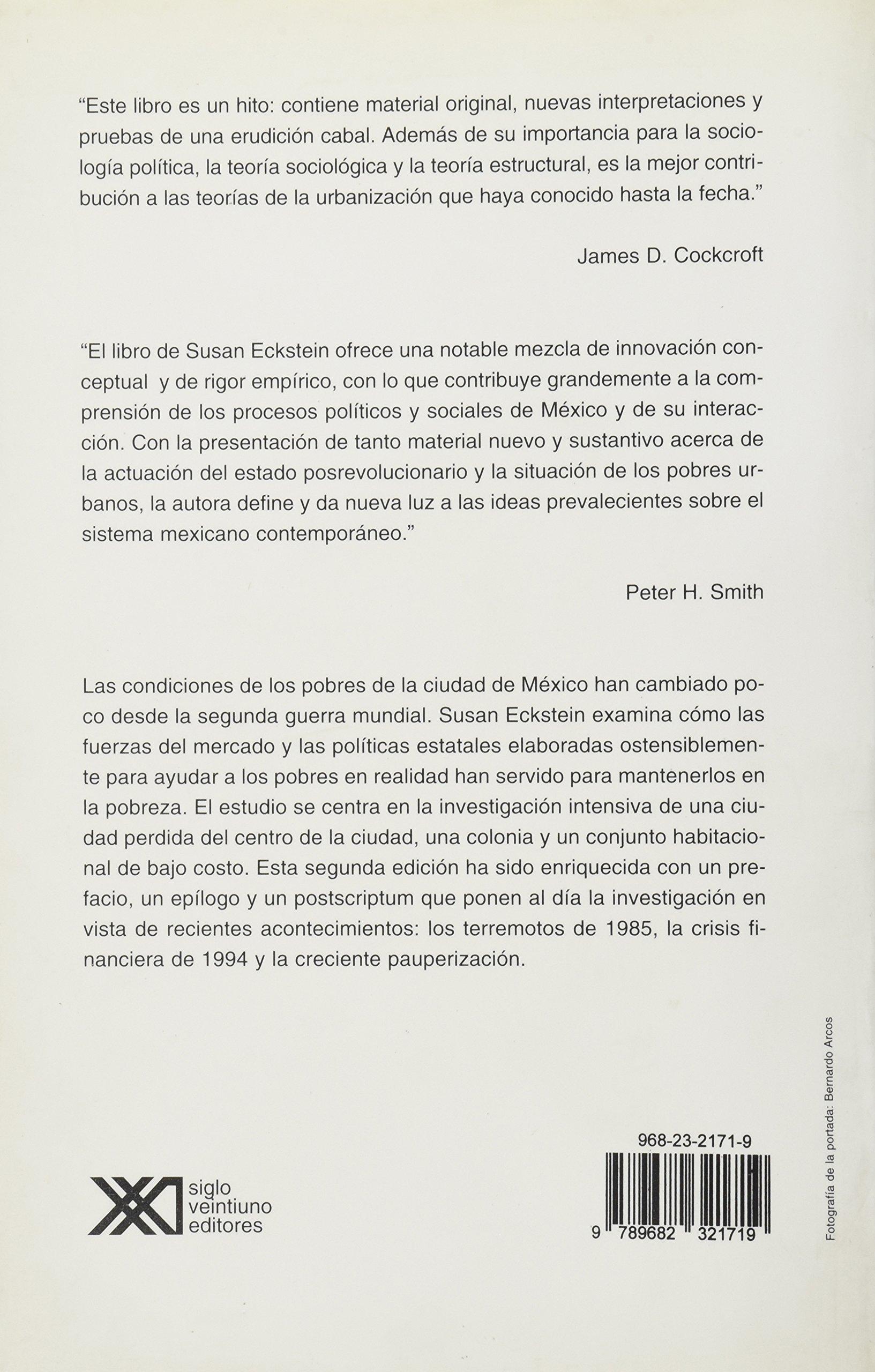Estado y la pobreza urbana en Mexico (Spanish Edition): Susan Eckstein: 9789682321719: Amazon.com: Books