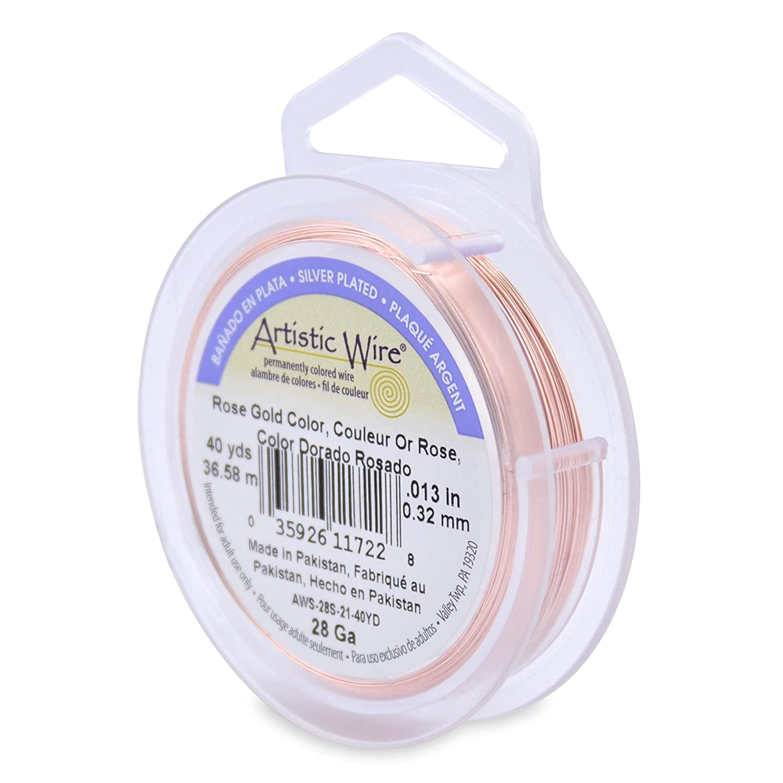 36,6/m Color oro rosa 28/GA Artistic Wire 36.5/m