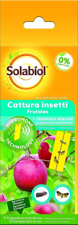 Solabiol Insecticida para plagas de frutales, feromonas, 5 Placas, Amarillo, 75 gr