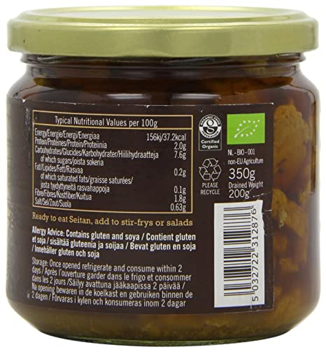 Biona Organic - Seitan Pieces (in Soya Sauce & Ginger) - 350g: Amazon.com: Grocery & Gourmet Food
