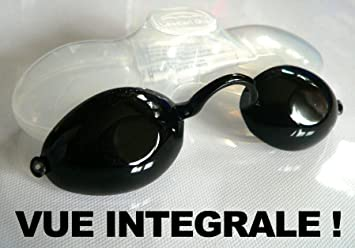 a6f622a57ba5c Lunettes de protection avec vue UV pour solarium normes CE avec élastique +  boite notice bronzage