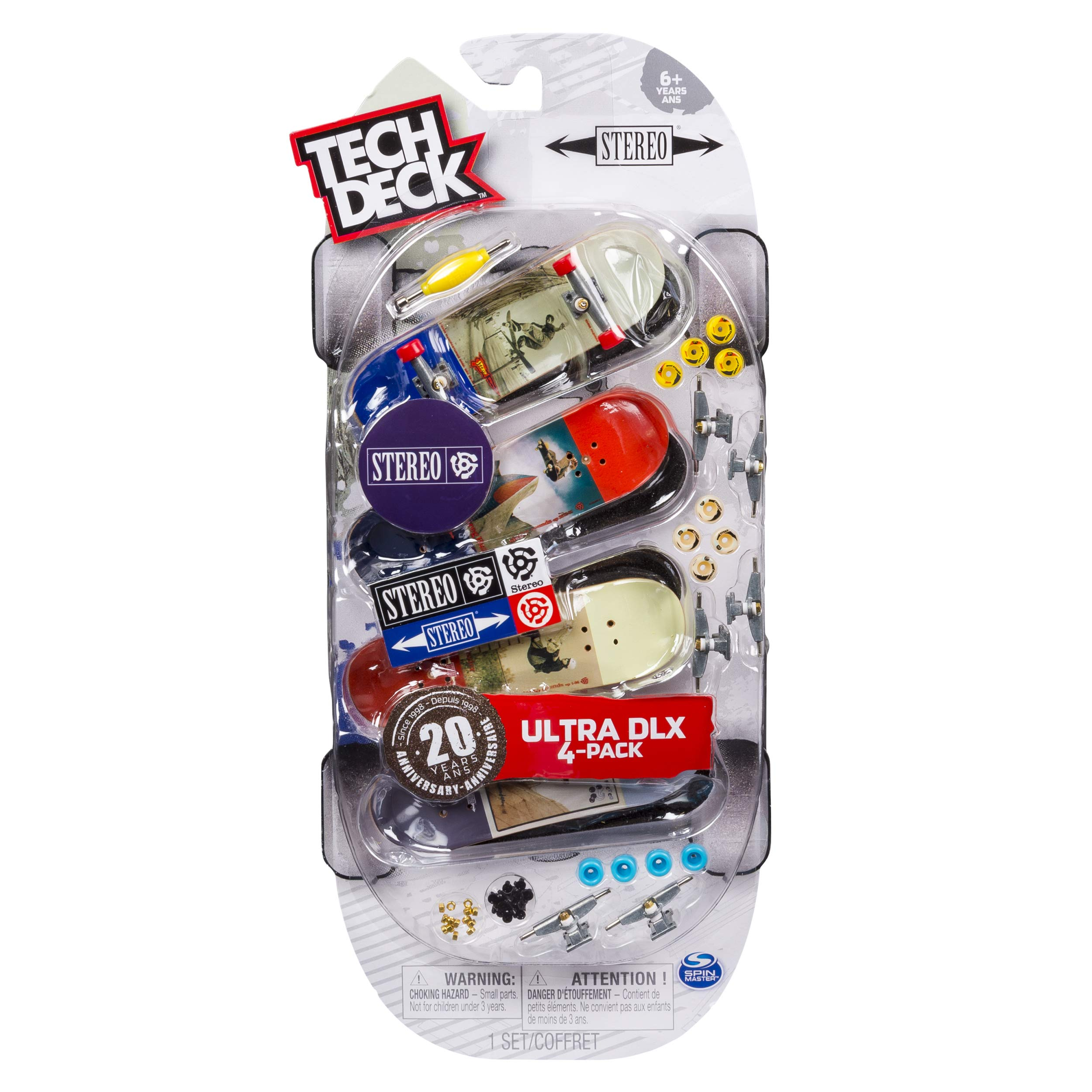 Tech Deck Ultra DLX 4 Pack 96mm Fingerboards - Stereo 20th Anniversary Special Edition by Tech Deck