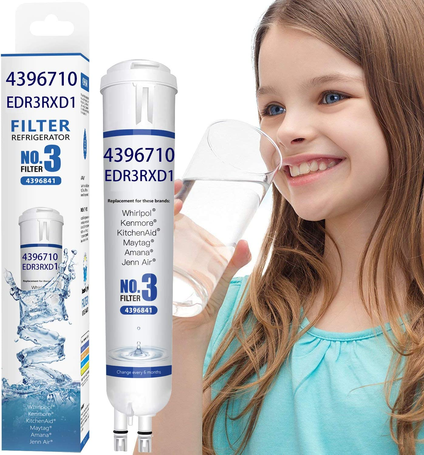 Ocean 9083 Rеfrigerator Wаter Filtеr Replacement for Kenmore Refrigerator Water Filter 46//9083 9083 46//9030 9030 2 Pcs,Packaging May Vary