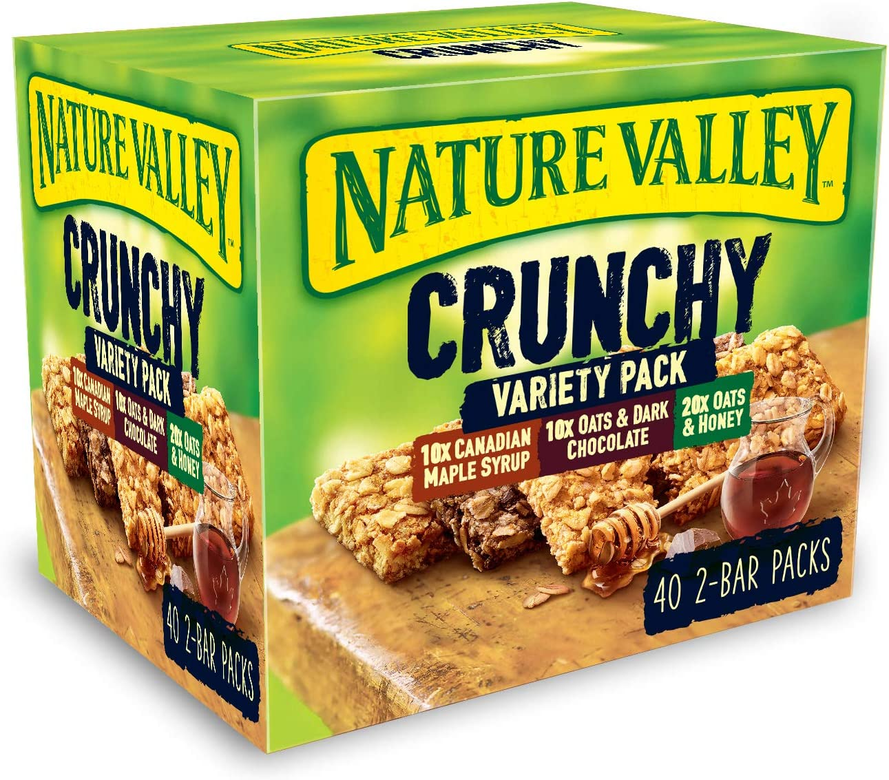 Nature Valley Crunchy Granola Bars Variety Pack 40 Bars x42gm Big Value pack