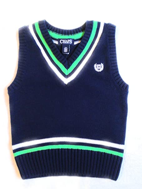 ba437e198 Image Unavailable. Image not available for. Color: Chaps Boys Sweater Vest  Navy