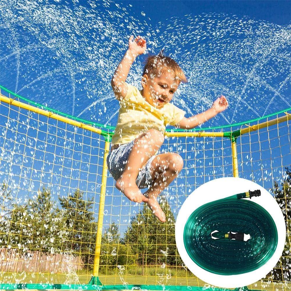 Aspersor de trampolín actualizado 2020, aspersores de juego de agua al aire libre para niños Parque acuático divertido Juegos de verano Aspersor de juguetes de jardín (2.5M / 7.5M)