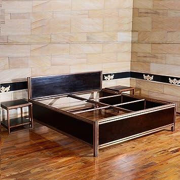 Terroso Holzbett HORNET Massiv Doppelbett für das Schlafzimmer ...