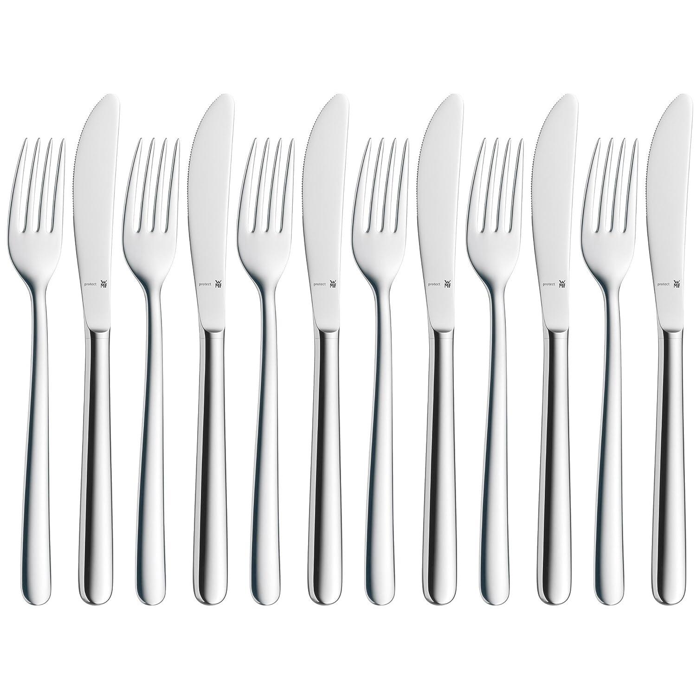 WMF Kult Dessert-/ Frühstücksbesteck-Set 12-teilig, für 6 Personen eingesetzte Messerklinge Edelstahl poliert, extrem kratzbeständig spülmaschinengeeignet 1260566340