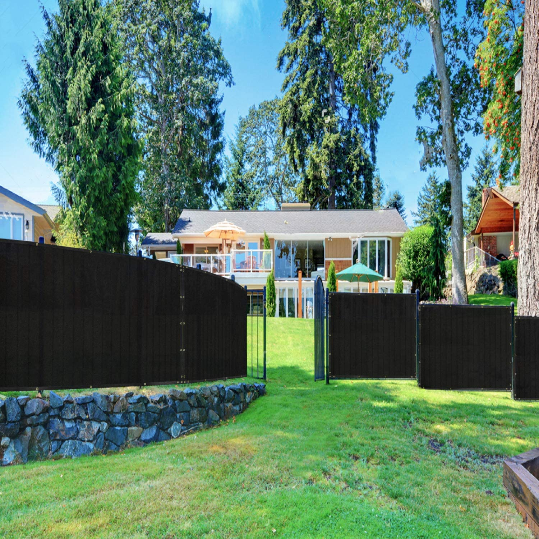 Windscreen4less 4 Tall Fence Black Privacy Screen /& Windscreen /& Fabric Mesh w//Brass Grommets