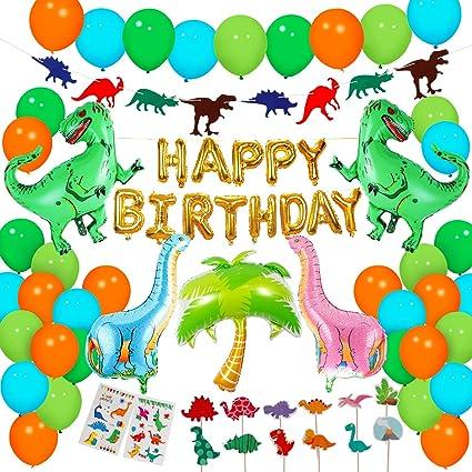 Amazon.com: Dinosaurio suministros de fiesta – 90 piezas ...