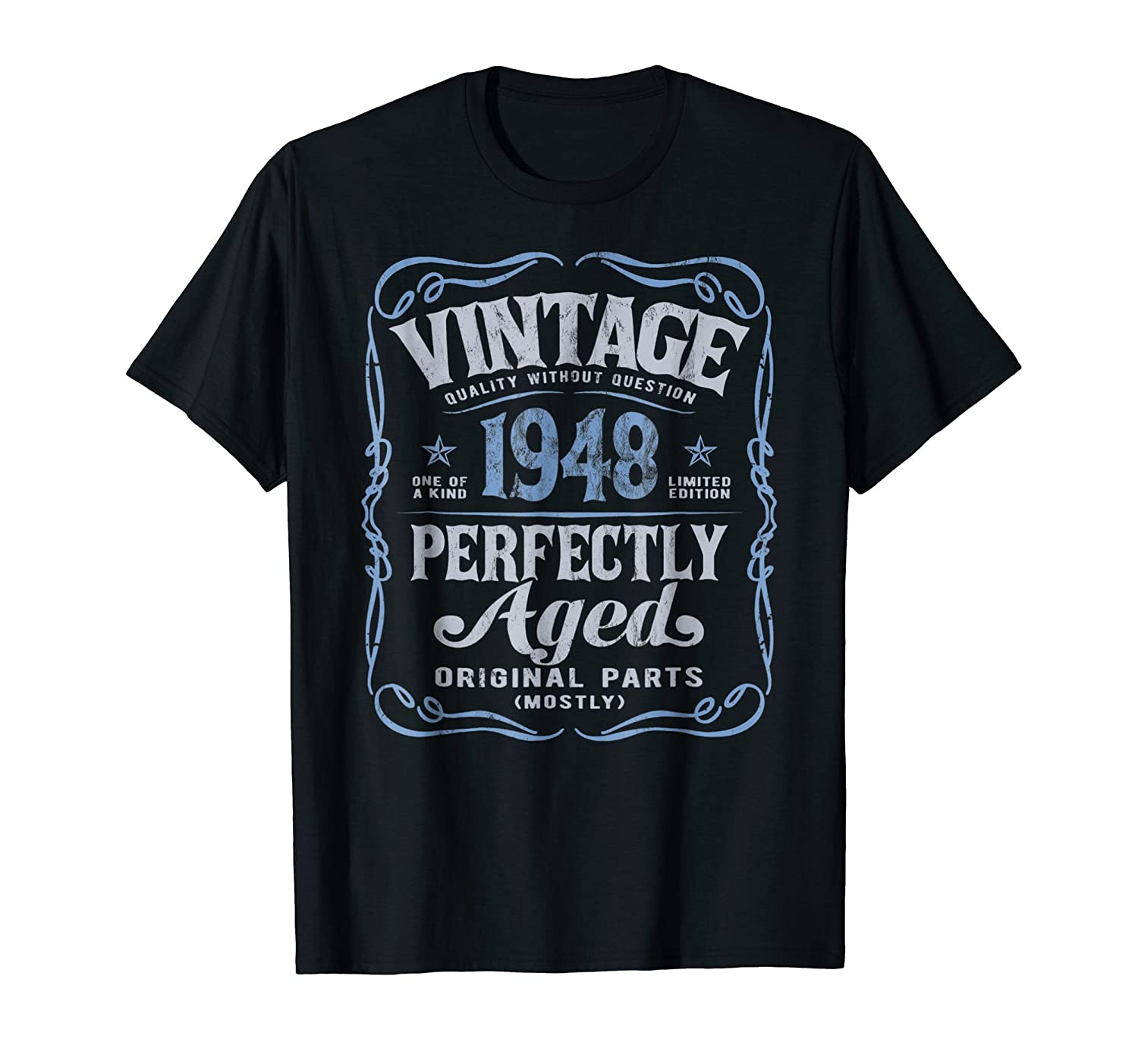 Vintage Made In 1948 T-Shirt 70th Birthday Gift-fa
