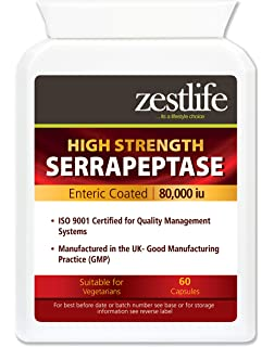 SERRAPEPTASE (recubrimiento entérico) 80,000iu -2 x 60 cápsulas.