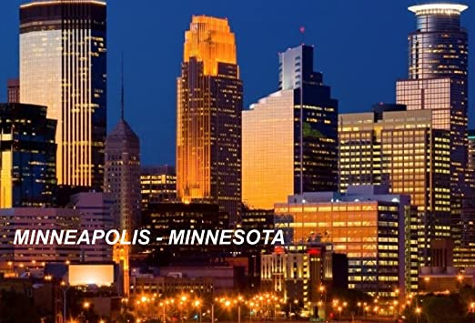 Minnesota USA United States Fridge Refrigerator Magnets City: Minneapolis #T3