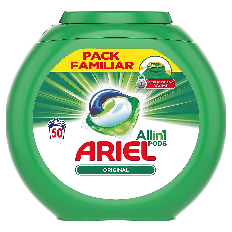 Ariel 3 en 1 Pods Cápsulas, Alpine - 50 Lavados: Amazon.es: Salud ...
